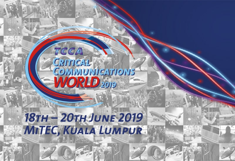 Representation of TCCA Critical Communications World 2019 event