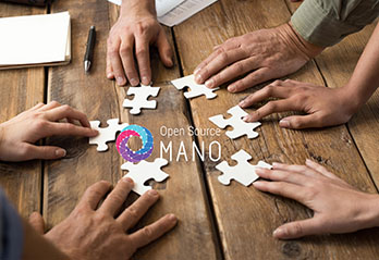 Hands in a circle with puzzle parts and OSM logo in the middle
