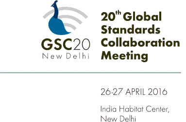 GSC20 logo with inscription of 20th meeting from 26-27 Apr 2016