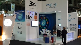 Photo of stand at Mobile World Congress 2011