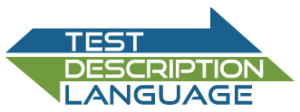 "Logo with inscription ""Test Description Language"""